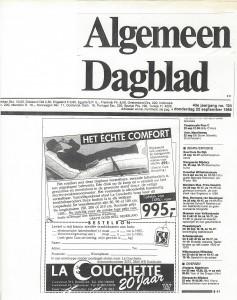 algemeen dagblad la couchette